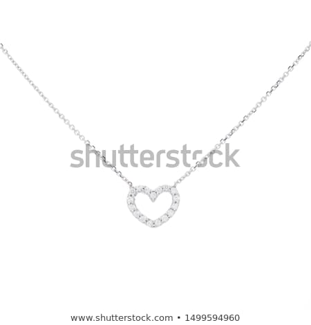 diamond heart necklace stock photo © elenaphoto