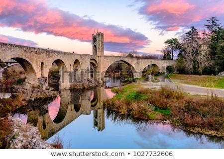 Pont ciel pierre rivière ville Photo stock © arocas