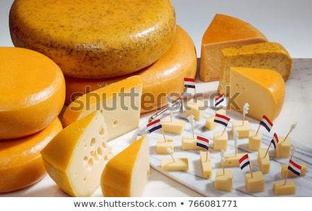 голландский · сыра · мало · флагами - Сток-фото © ivonnewierink