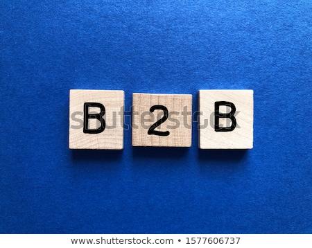 Acroniem b2b Maakt een reservekopie business geschreven Blackboard Stockfoto © bbbar