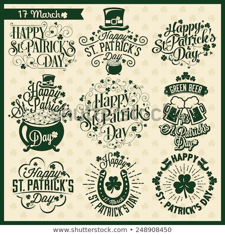 abstract st patrick icon set Stock photo © pathakdesigner