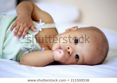 gyermek · hüvelykujj · lány · szemek · haj · portré - stock fotó © photography33