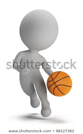 3d small people - basketball player Stock photo © AnatolyM
