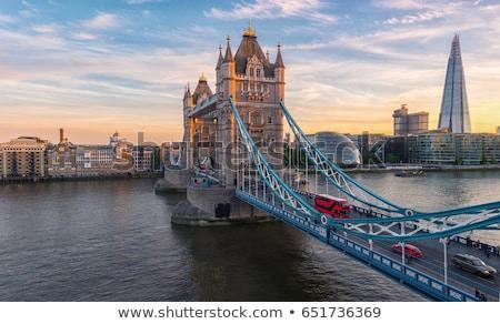 London Tower Bridge at Dusk Stock photo © vichie81