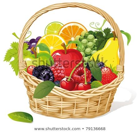 eper · fonott · kosár · természet · gyümölcs · csoport - stock fotó © M-studio