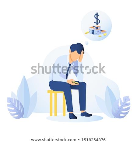 Stock fotó: Nyugtalan · üzletember · iroda · férfiak · öltöny · pénzügy