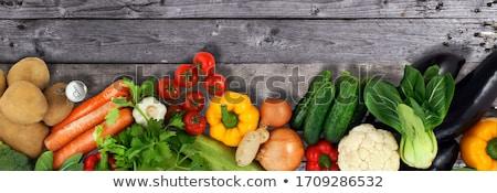 tomaten · markt · display · tabel · Rood · vruchten - stockfoto © arenacreative