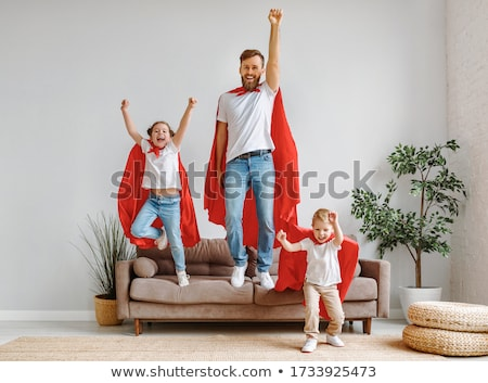 Father and daughter on the sofa Stock photo © photography33