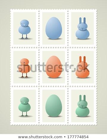 rabbit vintage postage stamp Stock photo © sirylok