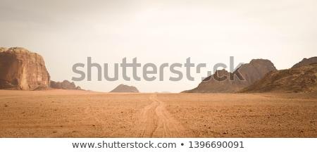 Poeirento estrada sujo rural céu Foto stock © ryhor