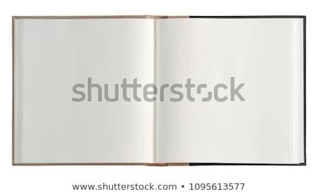 Fényképalbum üres lap klasszikus papír fekete fotó Stock fotó © creisinger
