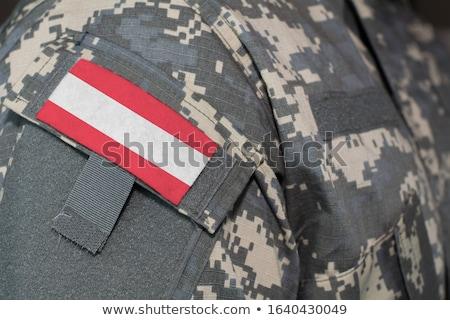leger · Oostenrijk · frame · oorlog · dienst · silhouet - stockfoto © perysty