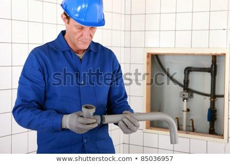 пластиковых · Трубы · сточные · воды · сантехники · Трубы - Сток-фото © photography33