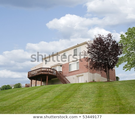 voorjaar · huis · groot · dek · beige - stockfoto © iriana88w