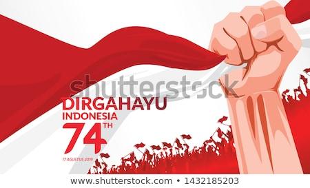 республика Индонезия Азии карт дополнительно Сток-фото © Vectorminator