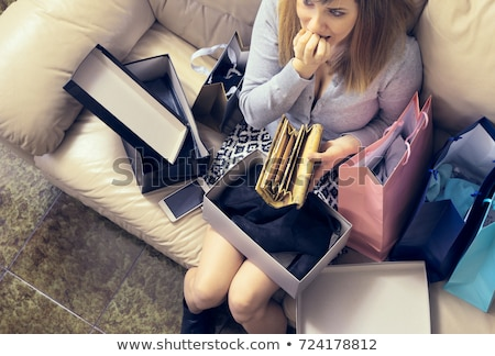 shopping addict in a shopping bag Stock photo © photography33