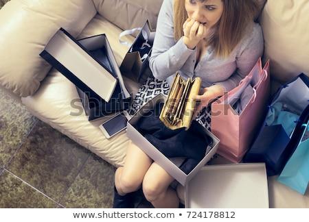 Compras viciado bolsa de compras mulher festa feliz Foto stock © photography33