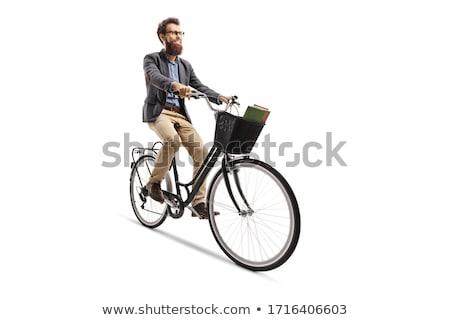 Bicycle on a white background Stock photo © ozaiachin
