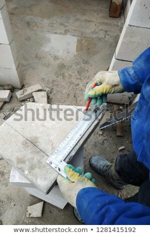 Mason marking metal ruler Stock photo © photography33