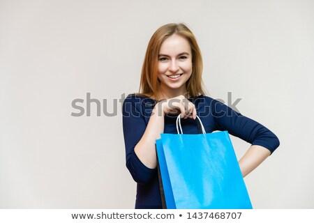 красивая · женщина · позируют · стороны · талия · белый - Сток-фото © stockyimages