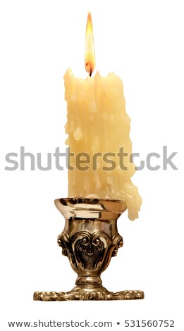 flame of burning candle with dripping wax Stock photo © LoopAll