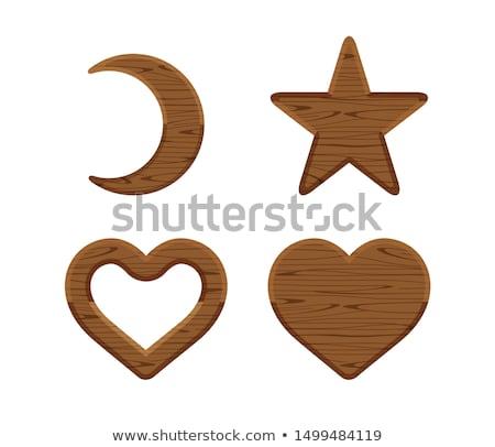 Wooden heart shaped figure Stock photo © ozaiachin