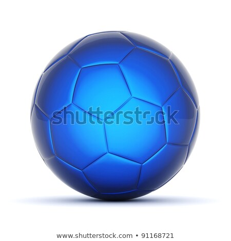 white and blue soccer equipment stock photo © pcanzo