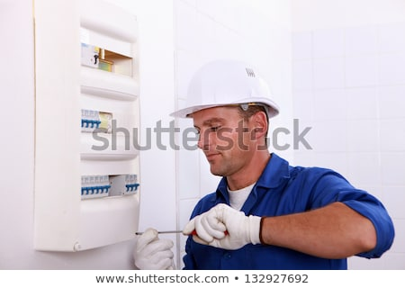 electrician fixing breaker box Stock photo © photography33