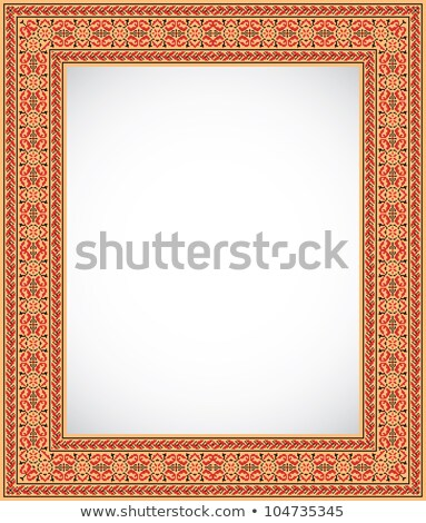 Vertical frame with an ornament - Ukrainian style Stock photo © pzaxe