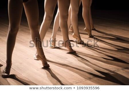 ayaklar · balerin · egzersiz · oda · dans - stok fotoğraf © wavebreak_media