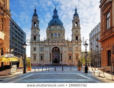 bazilika · Budapest · reggel · város · napfelkelte · torony - stock fotó © photocreo