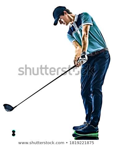 молодым · человеком · играет · гольф · Постоянный · области - Сток-фото © sumners