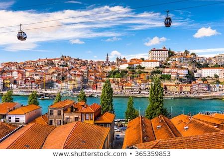 stad · avond · Portugal · traditioneel · vracht · boten - stockfoto © jeayesy