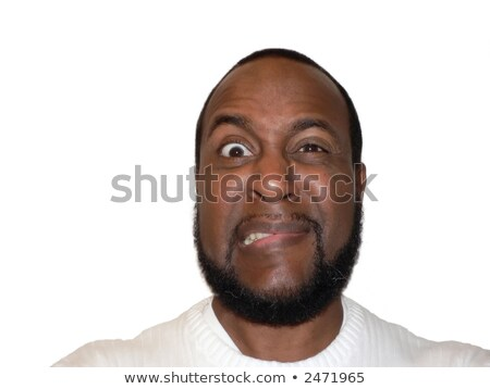 facial expression - funny shock and cringe stock photo © tdoes