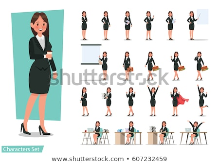 Office Woman - Cartoon Character - Vector Illustration Stock photo © indiwarm