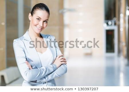 genç · kadın · tutum · beyaz · kadın - stok fotoğraf © pablocalvog