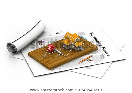 дома · несут · ловушка · изолированный · белый - Сток-фото © 4designersart