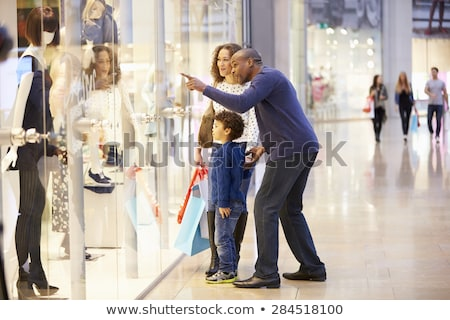 family and shop window Stock photo © Paha_L