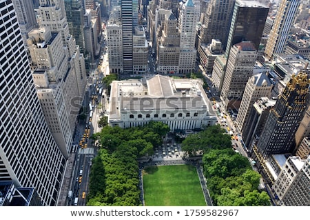Aerial view of Manhattan with Bryant Park Stock photo © frank11