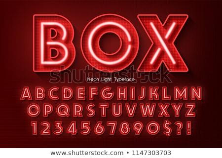 Kleurrijk neon brieven stad straat ontwerp Stockfoto © creisinger