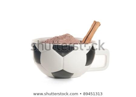 Futbol kupa fincan boyalı futbol sahası alan Stok fotoğraf © kuligssen