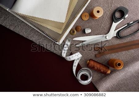 ストックフォト: 仕立て · キット · セット · スレッド · 針 · ボタン