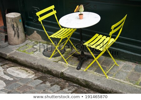 парижский металлический стульев место город Сток-фото © macsim