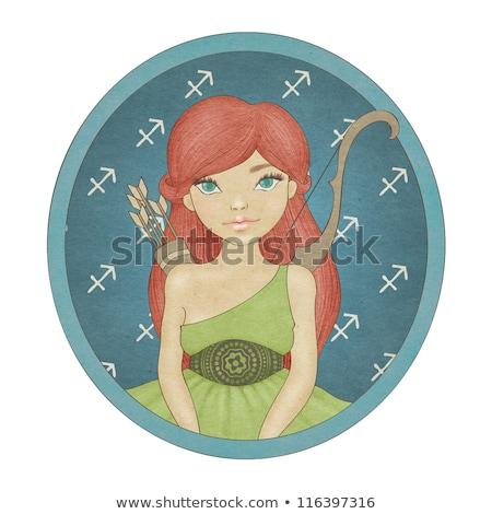zodíaco · horóscopo · assinar · beautiful · girl · mulher · terra - foto stock © anastasiya_popov