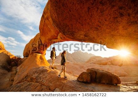 Намибия пейзаж природы зеленый рок Сток-фото © dirkr