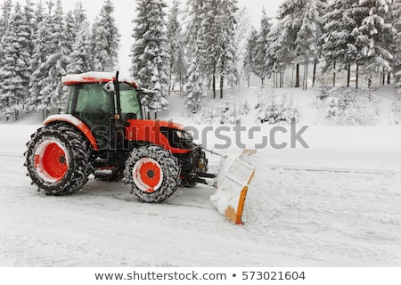 snow cleaning on ski slopes stock photo © ajn