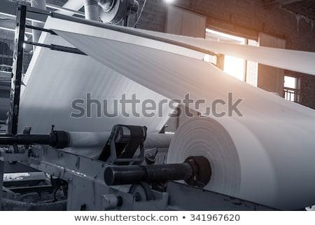 Stok fotoğraf: Kâğıt · fabrika · fotoğraf · selüloz · gün · batımı · Portekiz