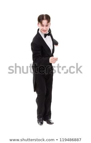 человека позируют бальный танцовщицы изолированный белый Сток-фото © stepstock