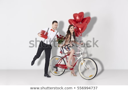 fashion couple with woman looking at you stock photo © feedough