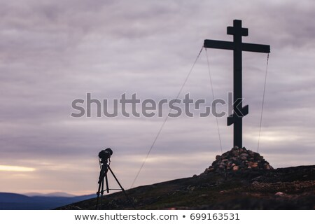 gebed · man · ion · drie · kruisen - stockfoto © hitdelight